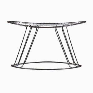 Wire Metal Stool from Wijnberg, USA, 1950s