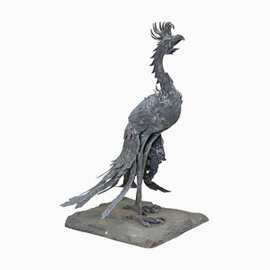 Large 19th Century Chinese Bronze Fenghuang Bird Incense Burner