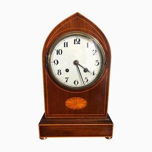 Antique Mahogany Lancet Top Mantel Clock