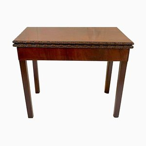 Chippendale Geschnitzter Kartentisch aus Mahagoni, 18. Jh
