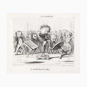 Honoré Daumier - La Véritable dans des Tables - Lithograph - 1853