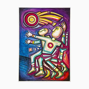 Alfredo Sosabravo - Atletismo - Acrylic Painting On Canvas - 2007
