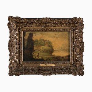 J. De Momper - Shepered In the Landscape - Huile Sur Panneau -17ème Siècle