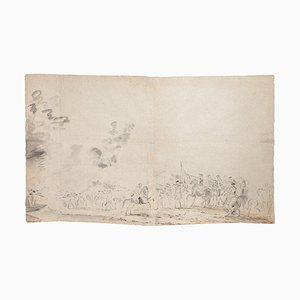 Jan Peter Verdussen - Landscape - Pencil On Paper - 18th-Century