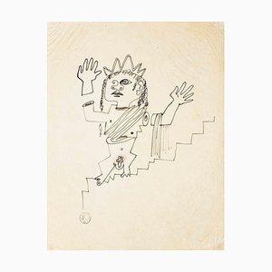 Jean Cocteau - The Goddess - Drawing - 1920er