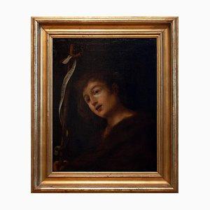 Inconnu - St. John Baptist - Peinture à l'Huile Sur Toile - 17th-Century