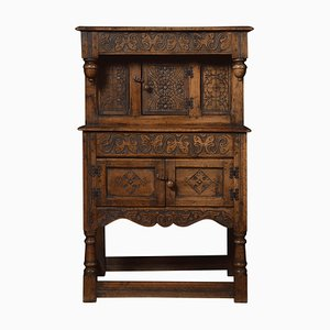 17th Century Style Dwarf Oak Court Cupboard