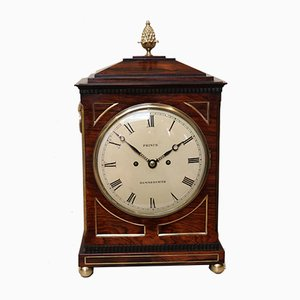 19th Century Rosewood Top Bracket Clock