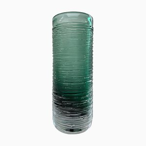 Sea Green Spun Vase by Bengt Edenfalk for Skruf Sweden, 1960s
