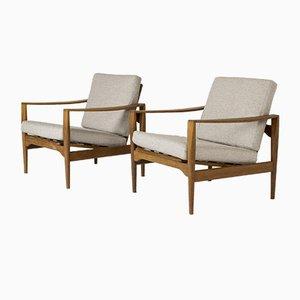 Teak Lounge Chairs from Niels Koefoed, Set of 2