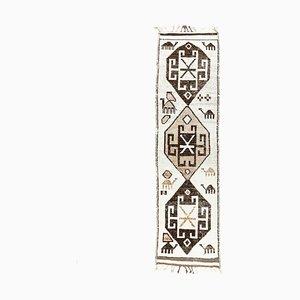 Turkish Vintage Oushak Handmade Wool Carpet Runner