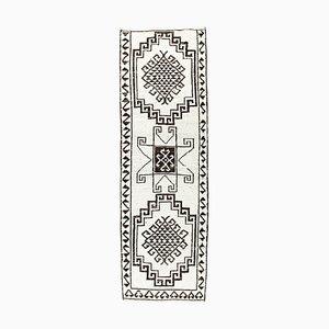 Turkish Vintage Oushak Handmade Wool Runner Carpet
