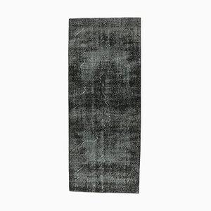 Vintage Turkish Oushak Handmade Solid Wool Runner Carpet
