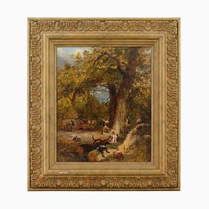 David Cox Senior, The Woodcutters, Oil on Canvas