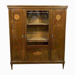 Art Deco Mahogany & Marquetry Cabinet, 1920s