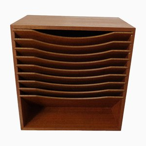 Teak A4 Register Filing Shelves, 1960s