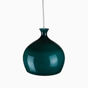 Glass Onion Pendant Lamp by Helge Zimdal for Falkenbergs Belysning, 1960s