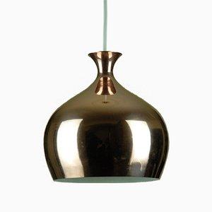 Lampe à Suspension Onion en Cuivre par Helge Zimdal pour Falkenbergs Belysning, 1960s