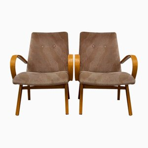 Mid-Century Armchairs by Jaroslav Smidek for TON, Set of 2
