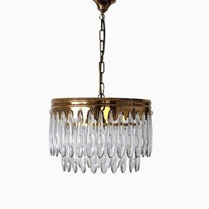 Italian Ceiling Lamp in Sciolari Style, 1970s