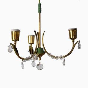 Austrian Ceiling Lamp from Rupert Nikoll, 1950s