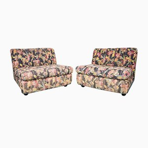 Italian Lounge Chairs by Mario Bellini, 1970s, Set of 2