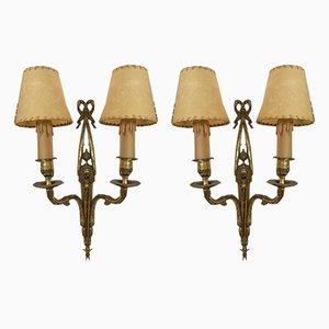 Messing Wandlampen, 1920er, 2er Set
