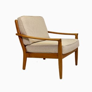 Mid-Century Scandinavian Beech Lounge Chair