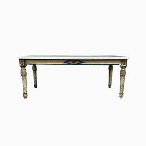 Louis XVI Style Lacquered Wood Side Table