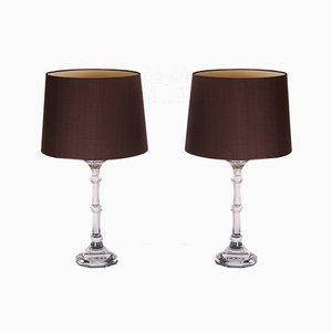 Deutsche Glas Tischlampen von Ingo Maurer für Design M, 1970er, 2er Set