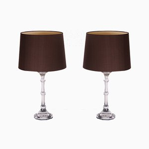 Lampade da tavolo in vetro di Ingo Maurer per Design M, Germania, anni '70, set di 2