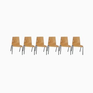 Mid-Century Scandinavian Style Dining Chairs from Hiller, Set of 6