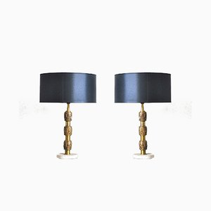 Model Bagdad Table Lamps by Luciano Frigerio, 1970s, Set of 2