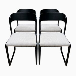 Mid-Century Sled Dining Chairs from Baumann, 1955, Set of 4
