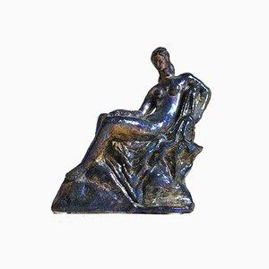 Keramikskulptur einer Frau von Pietro Melandri