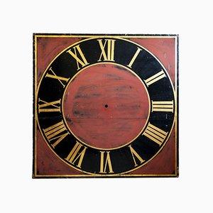 Grande Horloge de Tour Antique Peinte à la Main ou Cadran d'Horloge
