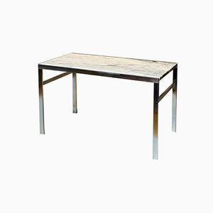 Mid-Century White Marble Side Table by Preben Fabricius & Jørgen Kastholm for Bo-Ex