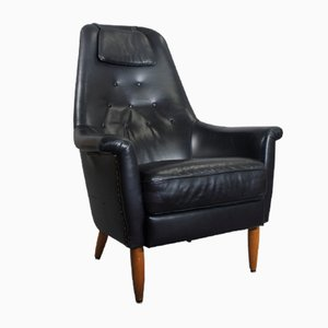 Mid-Century Leather Easy Chair