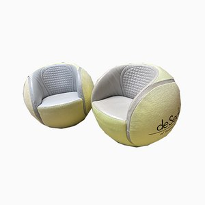 Tennis Ball Swivel Lounge Chairs from de Sede, 1980s, Set of 2