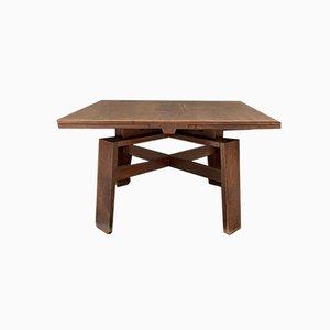 Tavolo da pranzo Mid-Century allungabile in legno di noce di Silvio Coppola per Bernini, Italia, 1964