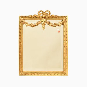 Small Carved Mirror with Gold Leaf Frame by Glaces de Saint-Gobain
