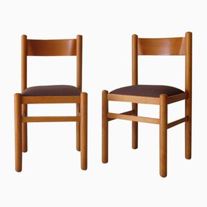 Swedish Beech Dining Chairs, 1950s, Set of 2