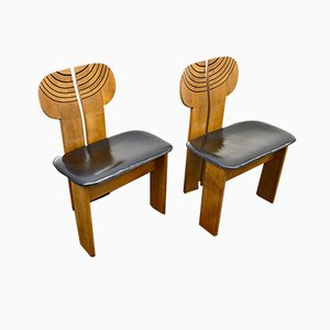 Africa Dining Chairs by Tobia & Afra Scarpa for Maxalto, 1970s, Set of 2