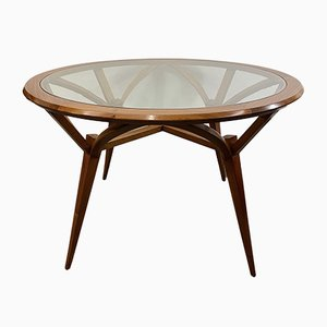 Mid-Century Round Teak Dining Table