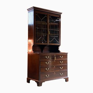 Antikes Bücherregal aus Mahagoni von JT Needs & Co.
