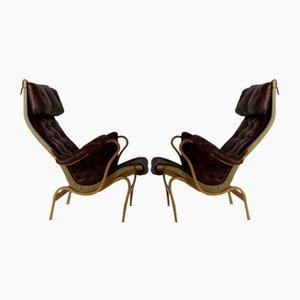 Pernilla Stühle aus Leder von Bruno Mathsson für Dux, 2er Set