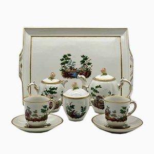 Antique Porcelain Coffee Service by Ginori, S.C.Ginori for Richard Ginori, Set of 8