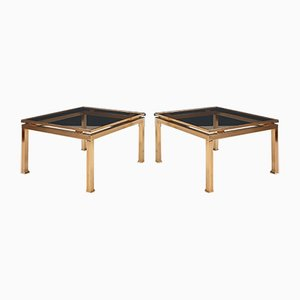 brass Coffee Tables by Guy Lefevre for Maison Jansen, 1970s, Set of 2