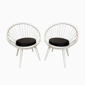 Circle Chairs von Yngve Ekström, 1960er, Set of 2