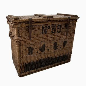 Large Antique Wicker Trunk